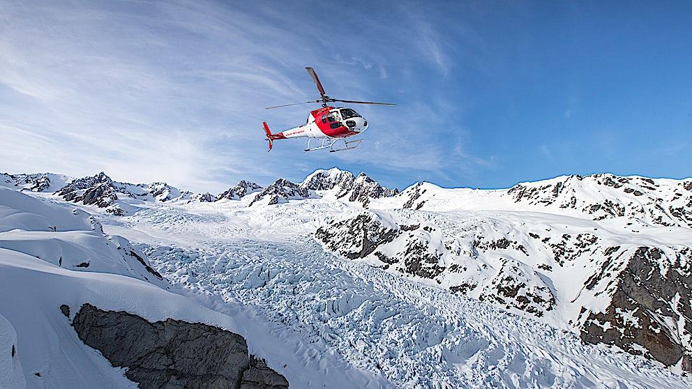 Glacier Helicopters Franz Josef Glacier Helicopter Flying Down The Glacier