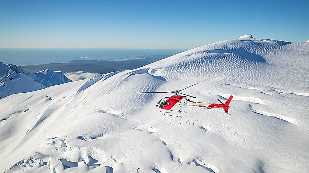 Glacier Helicopters flying high in the skies