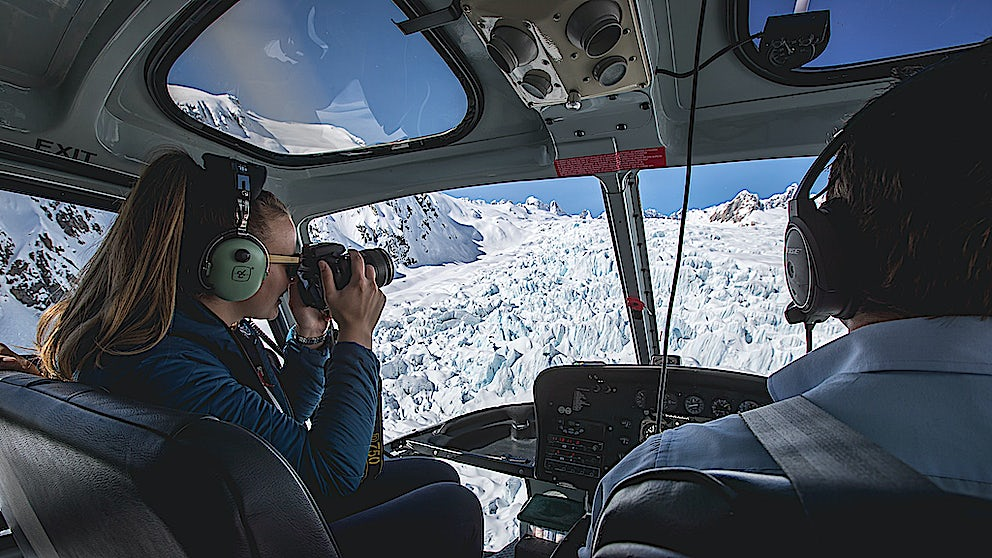Glacier Helicopters capturing the views